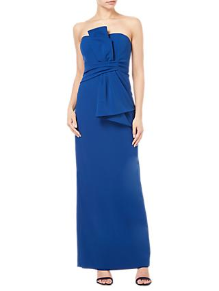 Adrianna Papell Crepe Strapless Bow Gown, Blue