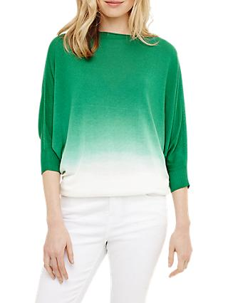 Phase Eight Becca Dip Dye Jumper, Green