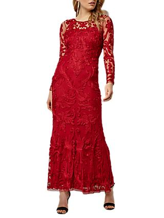 Phase Eight Collection 8 Aubree Tapework Dress, Scarlet Red