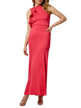 Collection 8 Brittany Shoulder Dress, Coral Pink