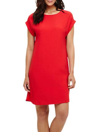 Phase Eight Pia Pleat Dress, Red