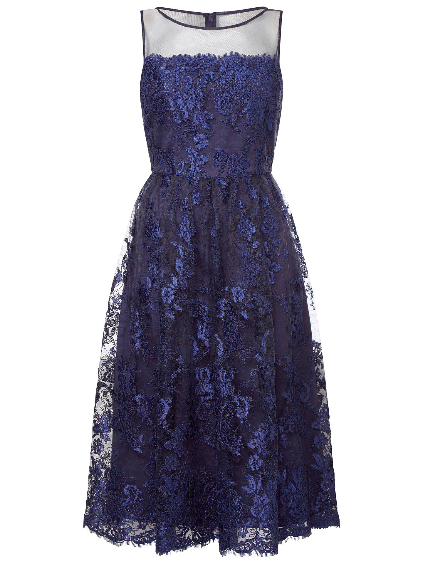 Buy Adrianna Papell Sleeveless Tea Length Dress, Navy, 8 Online at johnlewis.com