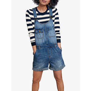 hush Short Denim Dungarees, Denim