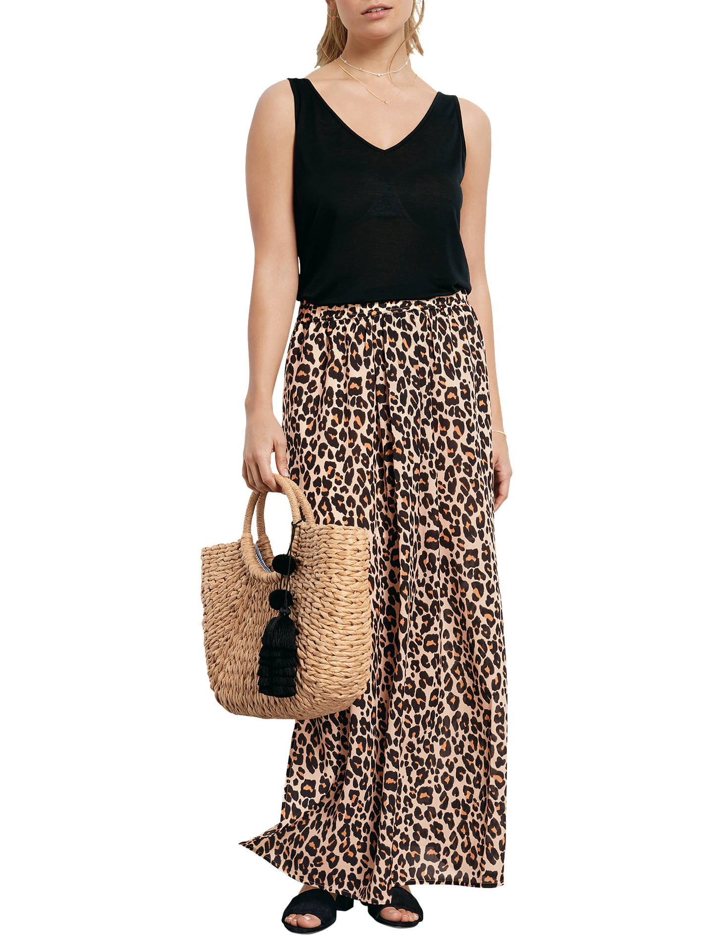4f2bcb8f7d Buyhush Leopard Split Maxi Skirt