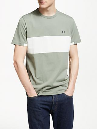 Fred Perry Chest Panel Short Sleeve T-Shirt, Washed Khaki
