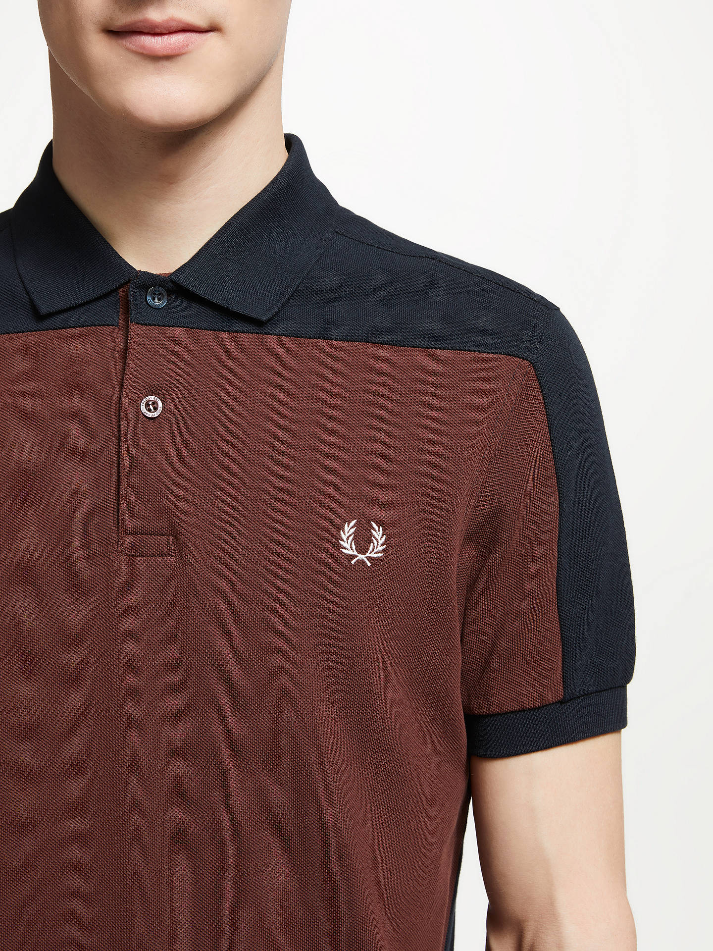 470b70b85 ... Buy Fred Perry Panelled Pique Polo Shirt