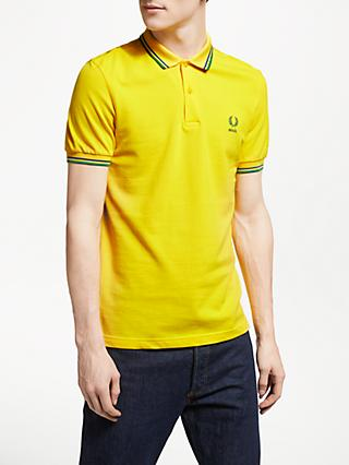 6357f7bb Fred Perry Twin Tipped Brazil Country Polo Shirt, Vibrant Yellow