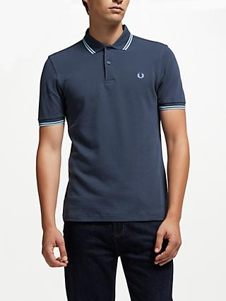 d2569001165e Fred Perry Twin Tipped Regular Fit Polo Shirt, Dark Airforce
