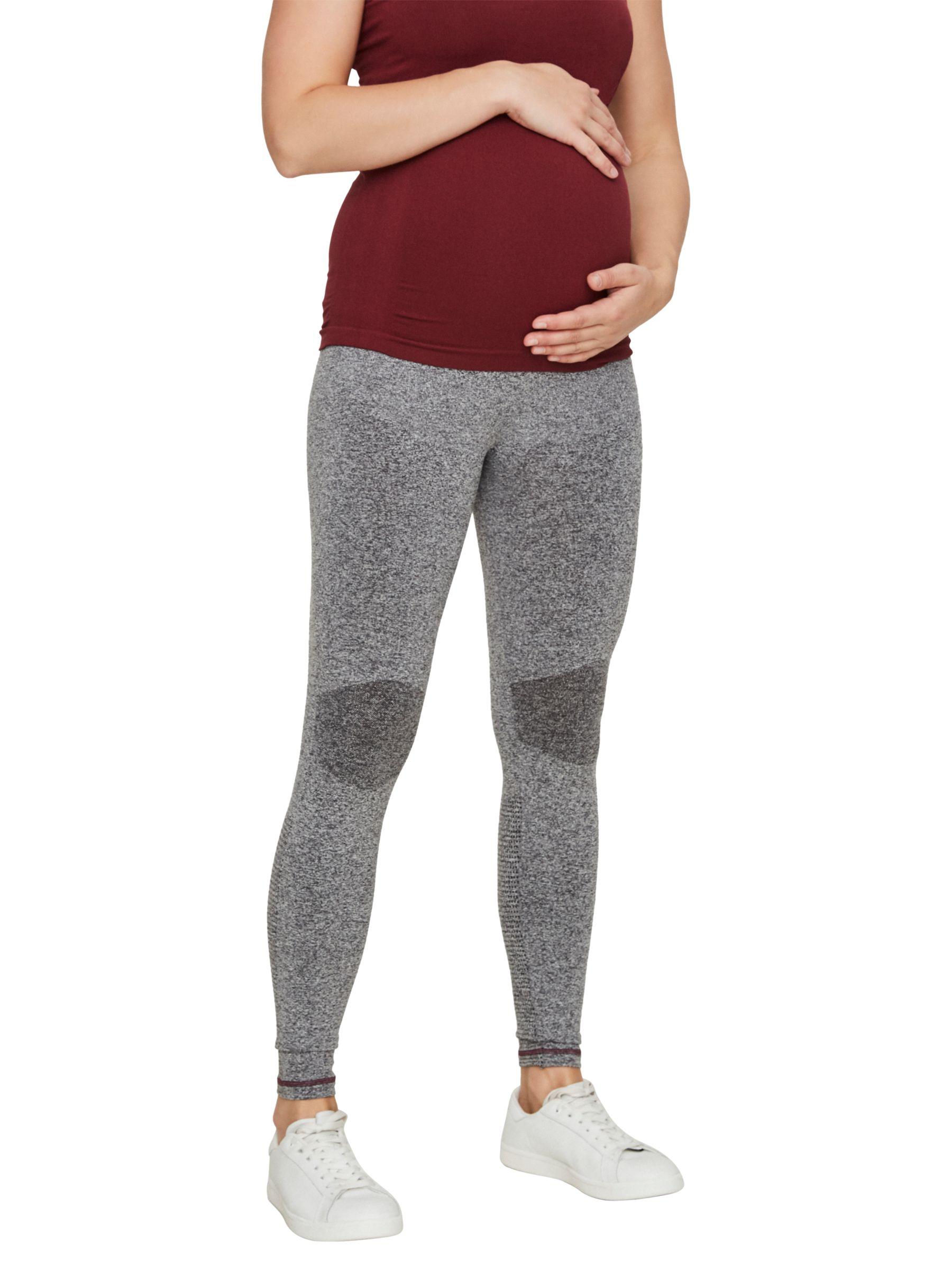 Mamalicious Mamalicious Active Maternity Leggings, Grey Melange