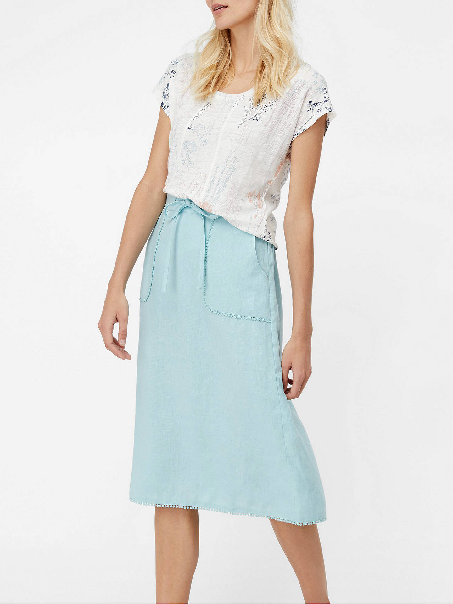 dd154c404eba Buy White Stuff Portia Linen Skirt, Blue, 6 Online at johnlewis.com ...