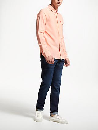 Scotch & Soda Long Sleeve Pocket Oxford Shirt, Pink