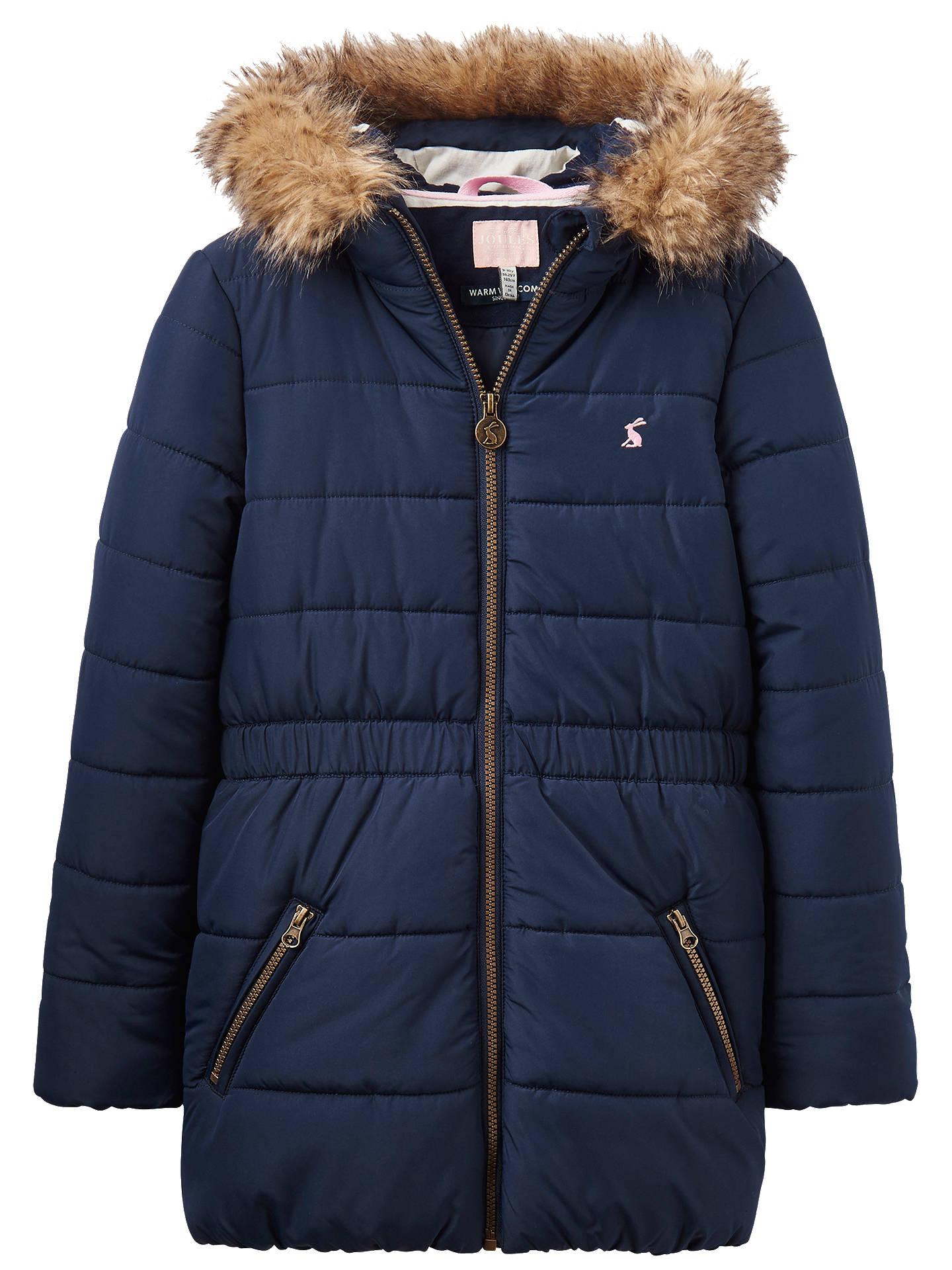 009eadc19 Buy Little Joule Girls' Belmont Coat, Navy, 3 years Online at johnlewis.
