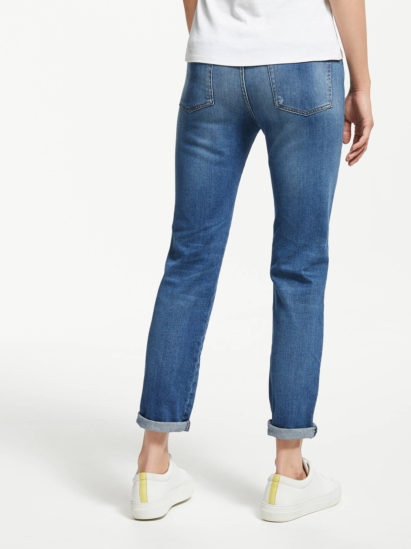Buy 7 For All Mankind Erin High Waist Slim Jeans, Lounge, 26 Online at johnlewis.com