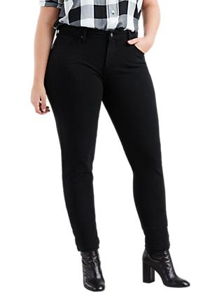 Levi's Plus 311 Shaping Skinny Jeans, Ultra Black Night