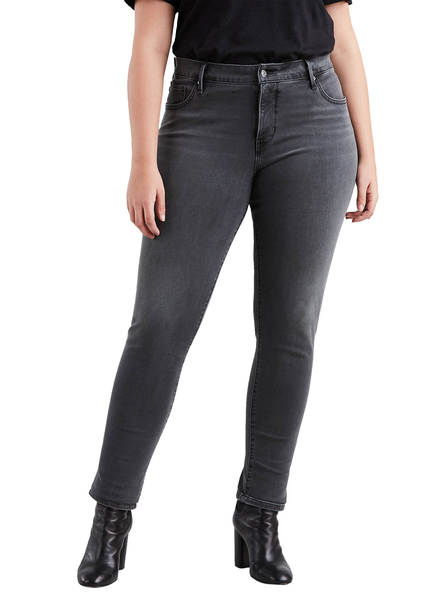d30f0c942c1 Buy Levi's Plus 311 Shaping Skinny Jeans, Grey Hat, 16 Online at johnlewis.