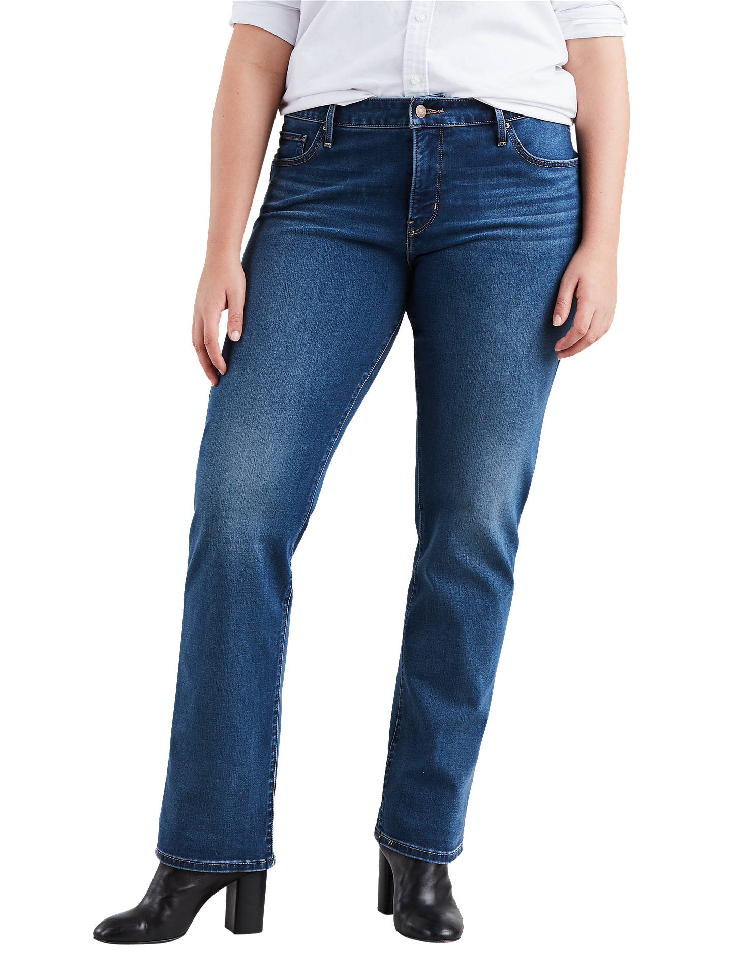 264b29d52040 Buy Levi's Plus 314 Shaping Straight Jeans, Shaker Maker, 20 Online at  johnlewis.