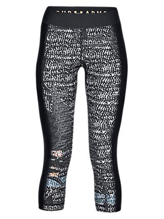 Under Armour HeatGear Printed Training Capri Leggings, Black