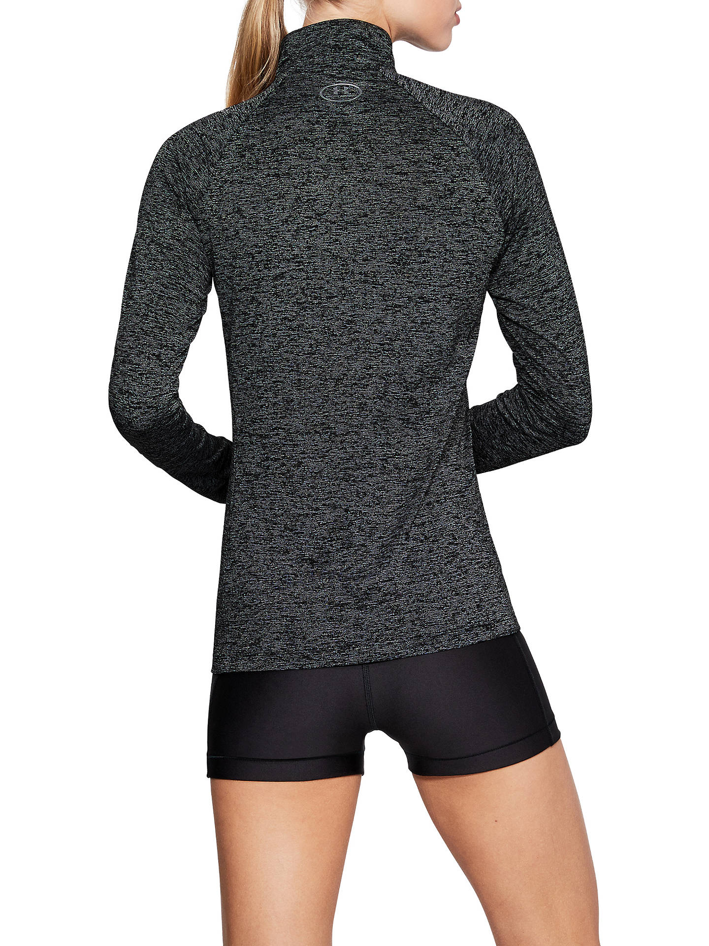 Buy Under Armour Tech 1/2 Zip Twist Long Sleeve Training Top, Charcoal/Metallic Silver, M Online at johnlewis.com
