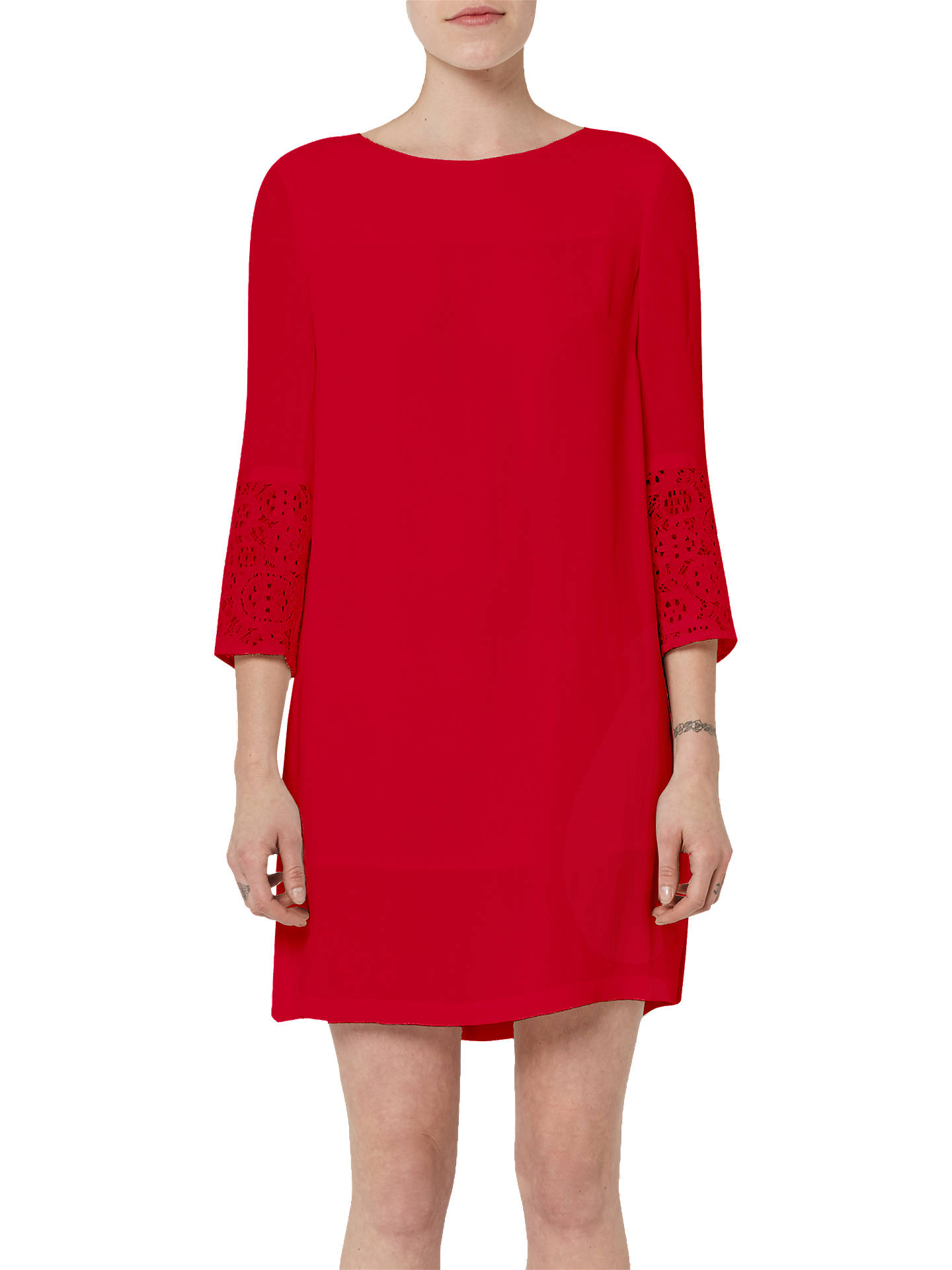 56cc9178a86 Buy French Connection Ensor Crepe Tunic Dress, Blazer Red, 8 Online at  johnlewis.