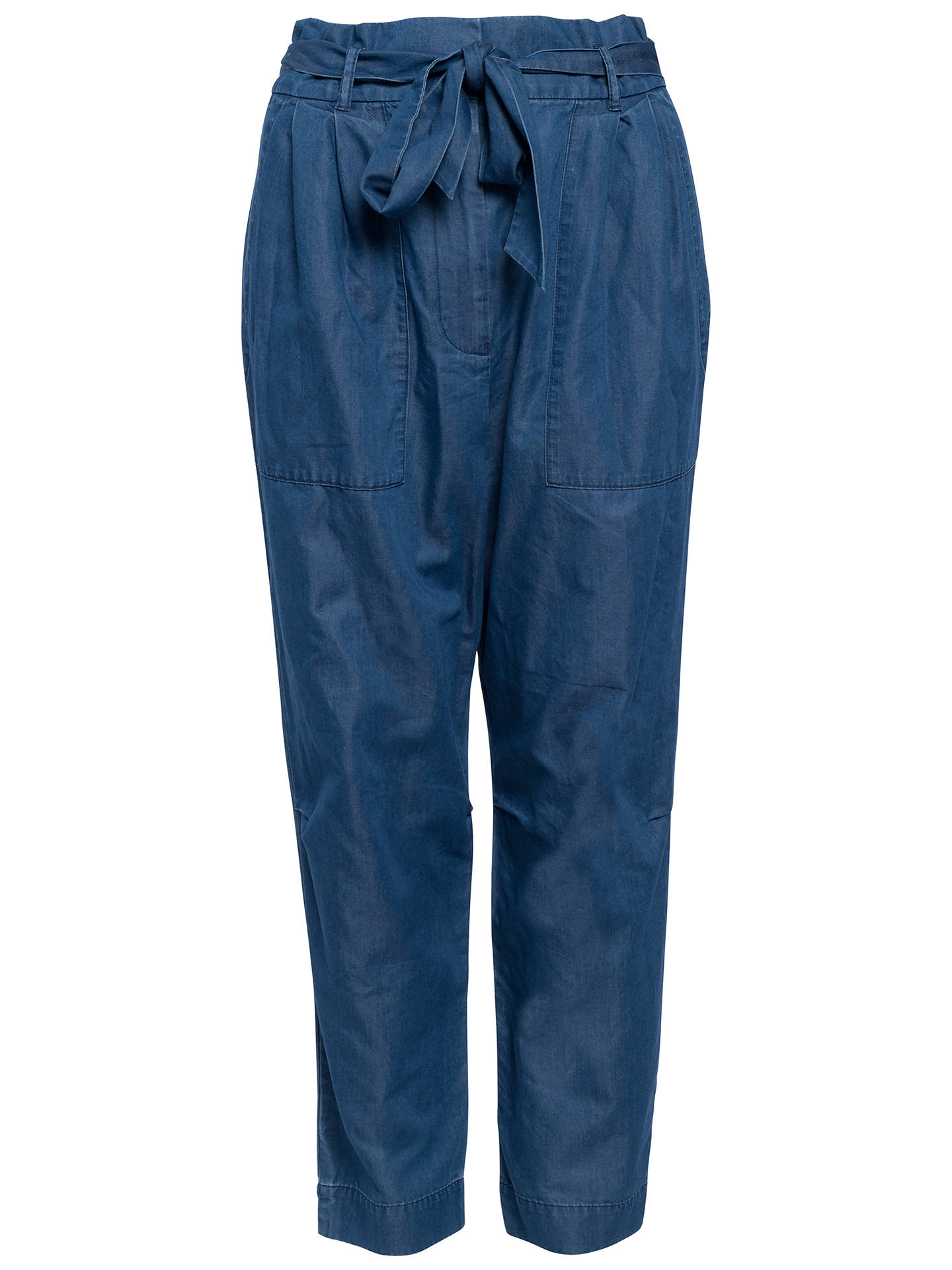 BuyFrench Connection Geada Lightweight Denim Tapered Trousers, Indigo, 6 Online at johnlewis.com