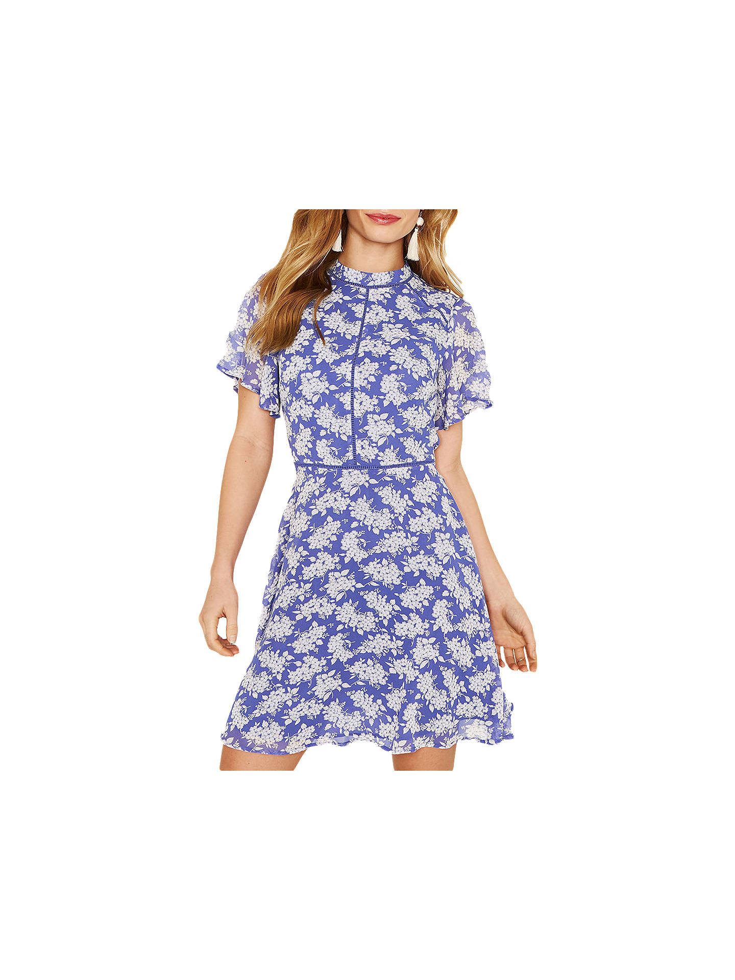f09ad120b10a Buy Oasis Provence Ditsy Floral Dress, Blue, 6 Online at johnlewis.com ...