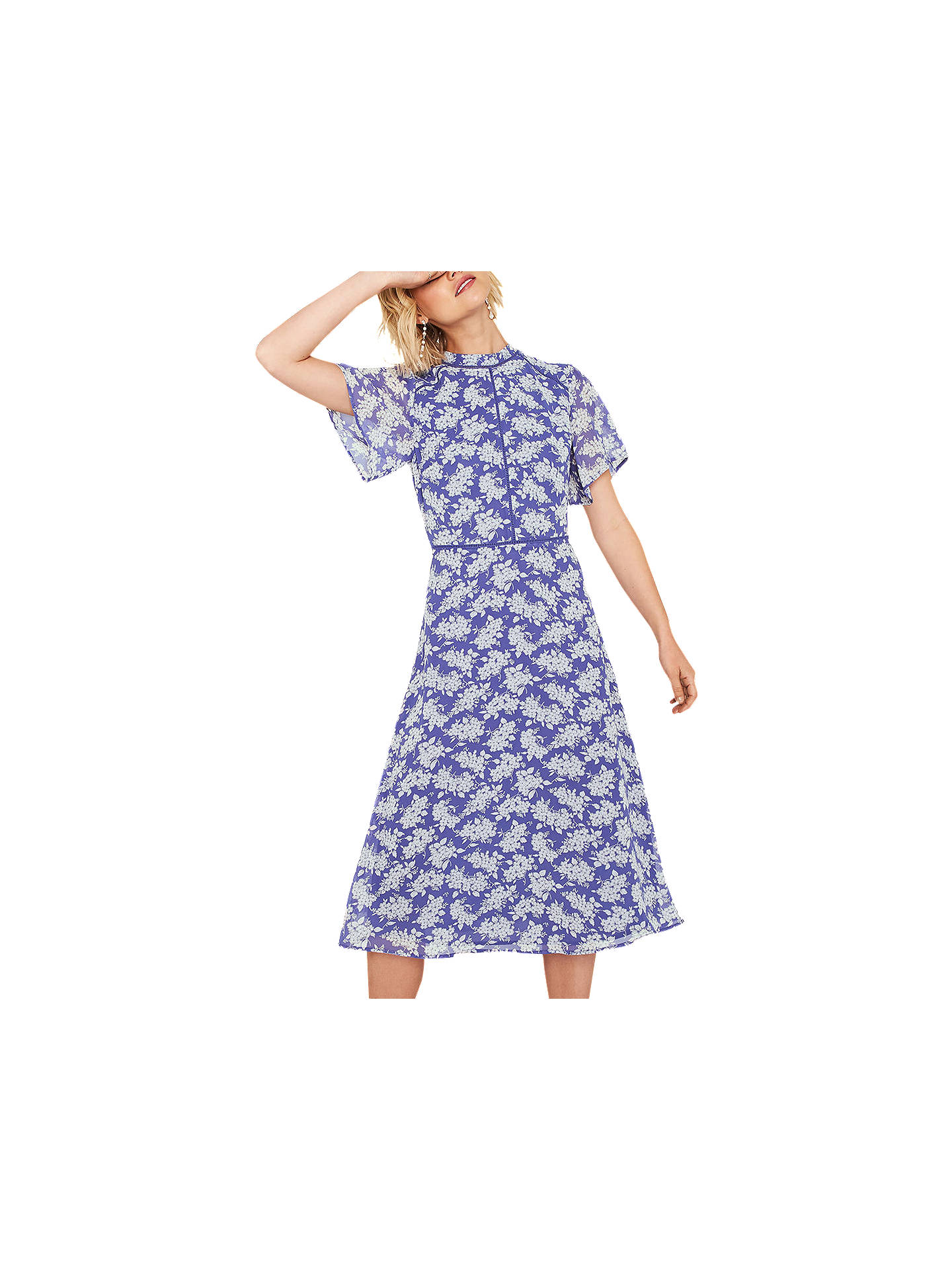 a945db3a63a3 Buy Oasis Long Length Provence Dress, Multi/Blue, 6 Online at johnlewis.