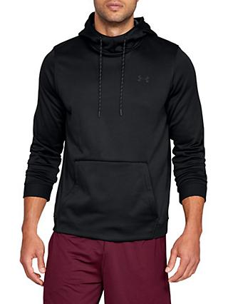 Under Armour Fleece Pull Over Training Hoodie, Black