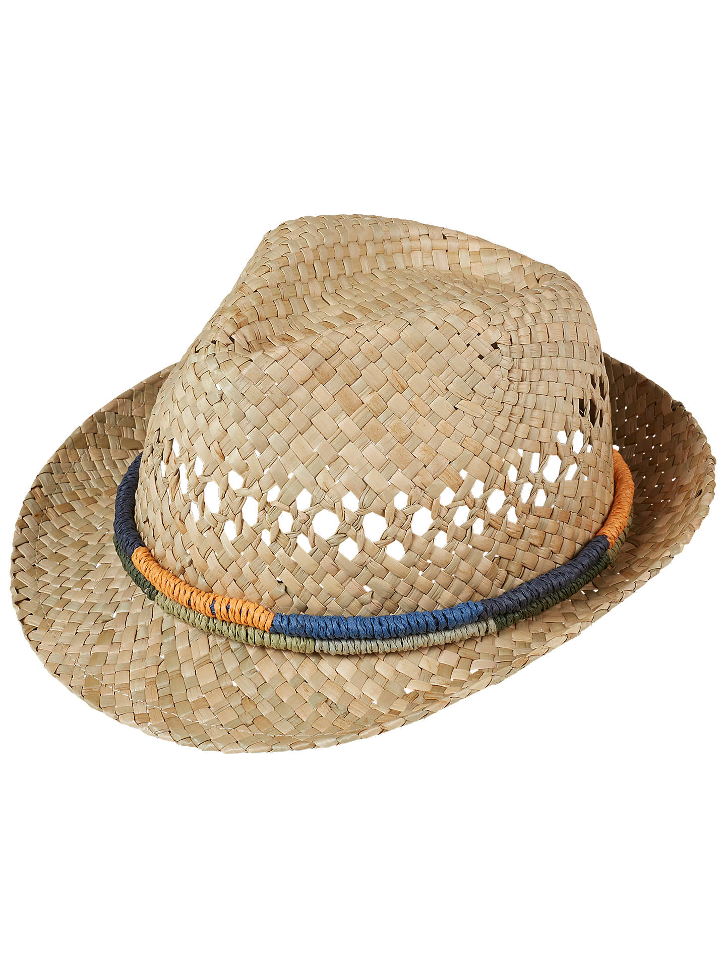 8d5741212a60be Buy Fat Face Children's Woven Band Trilby Hat, Neutral, S Online at  johnlewis.