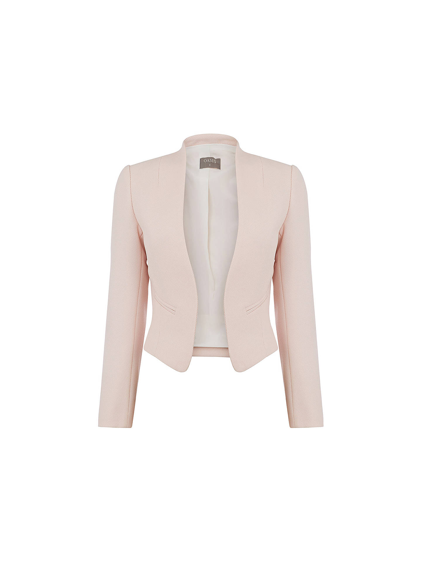 Buy Oasis Crop Event Jacket, Light Neutral, 6 Online at johnlewis.com