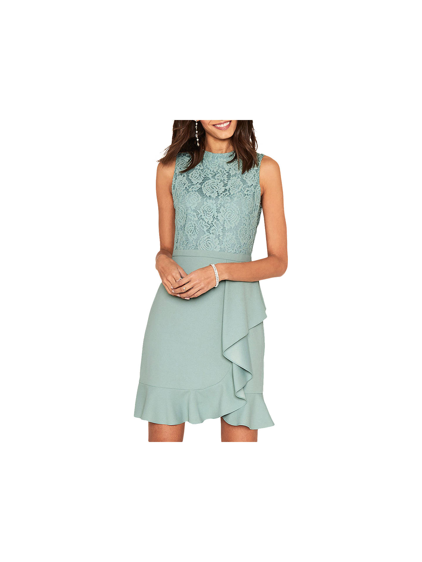 428ccb34829a Buy Oasis Lace Skater Dress, Teal, 6 Online at johnlewis.com ...