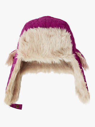 Buy John Lewis & Partners Children's Ski Trapper Faux Fur Hat, Pink, 3-5 years Online at johnlewis.com