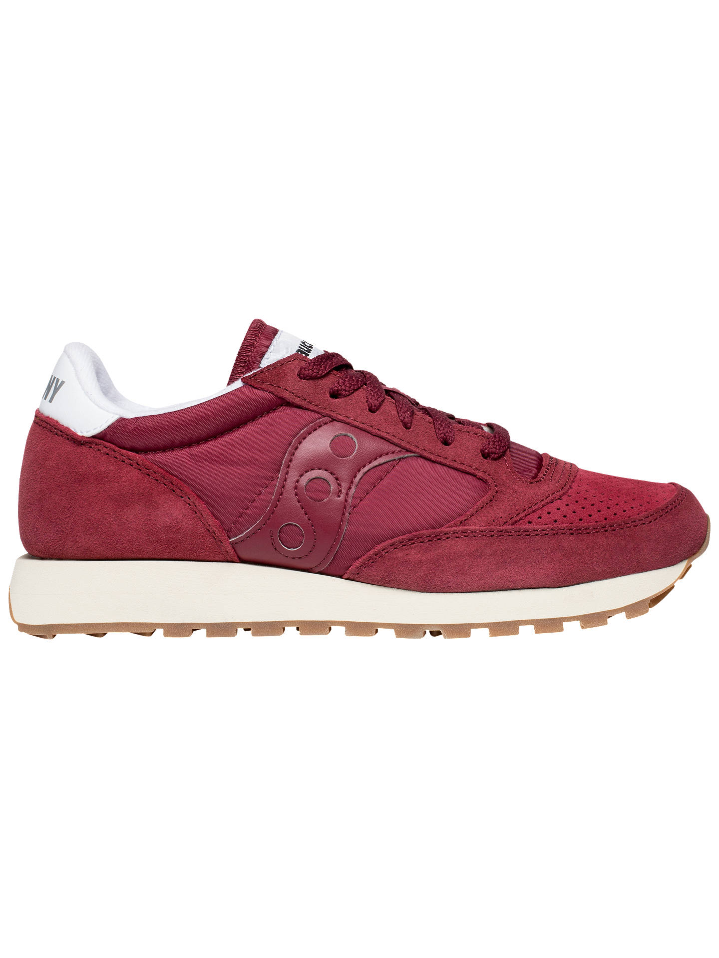 Buy Saucony Jazz Original Vintage Men's Trainers, Maroon, 9 Online at johnlewis.com