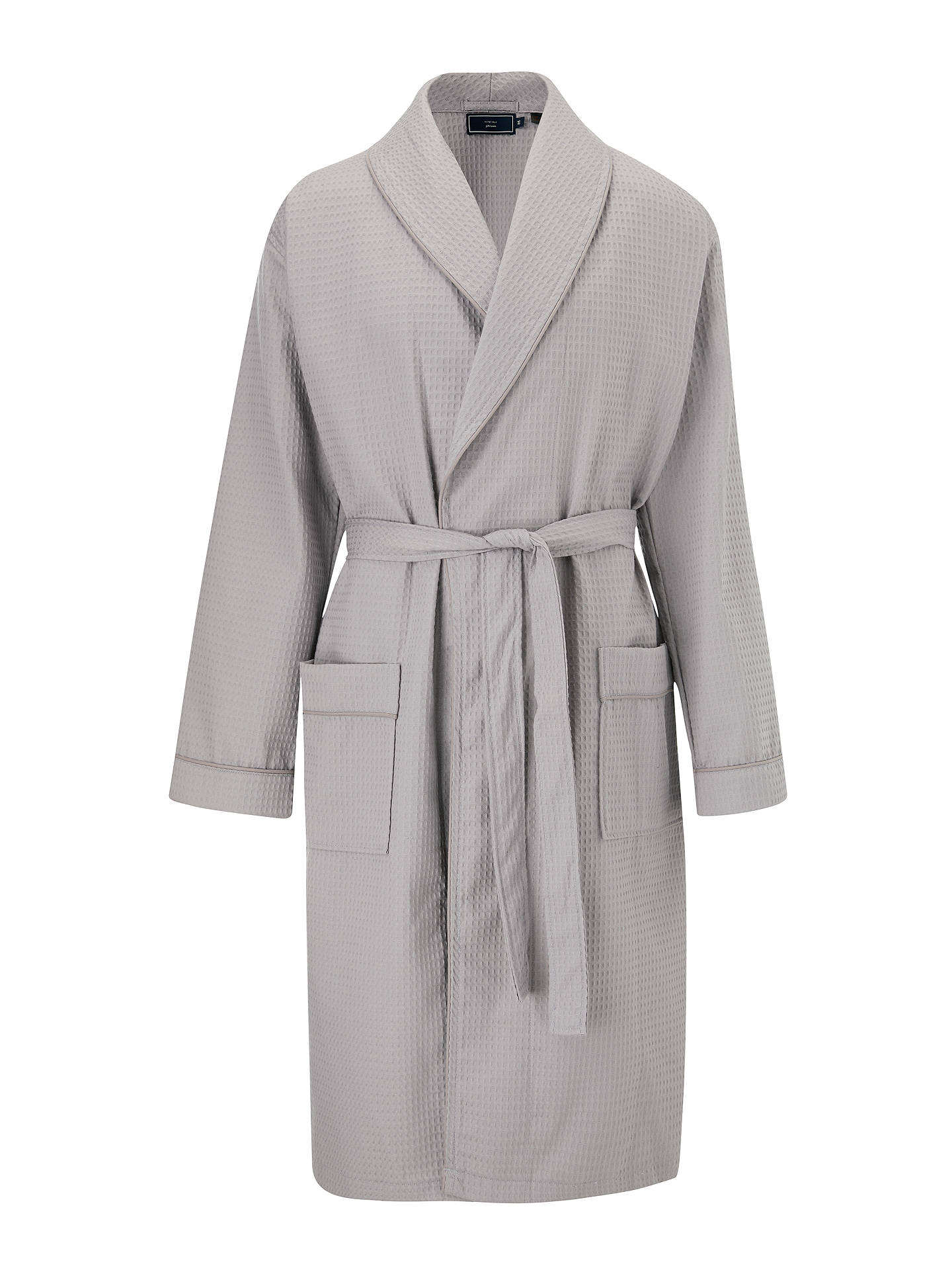 Buy John Lewis & Partners Cotton Waffle Robe, Grey, S Online at johnlewis.com