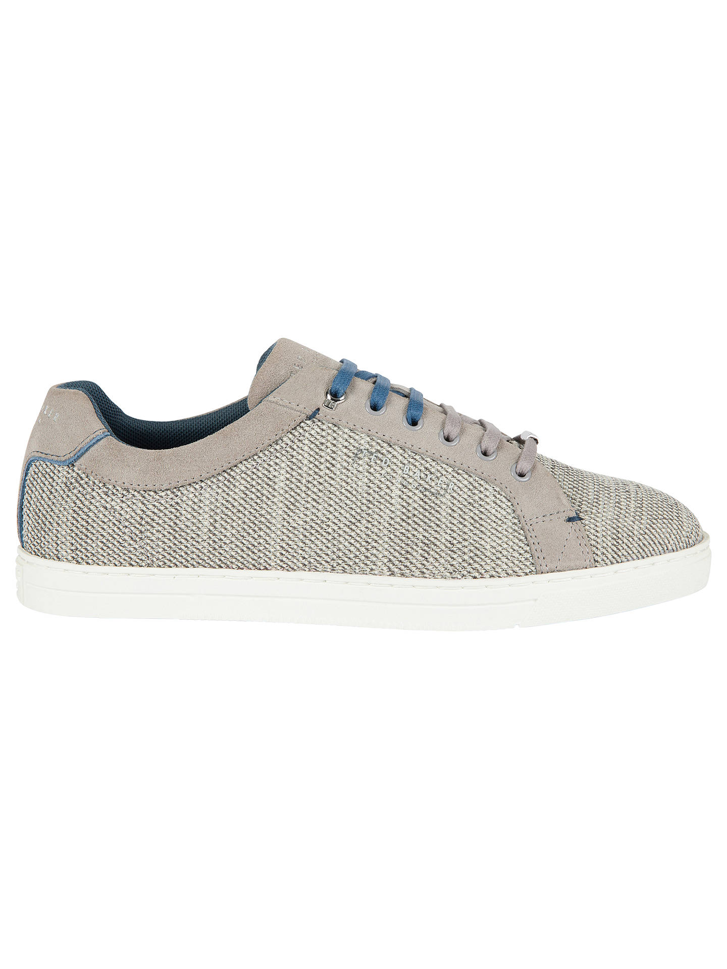 BuyTed Baker Demes Flyknit Cupsole Trainers, Grey, 6 Online at johnlewis.com