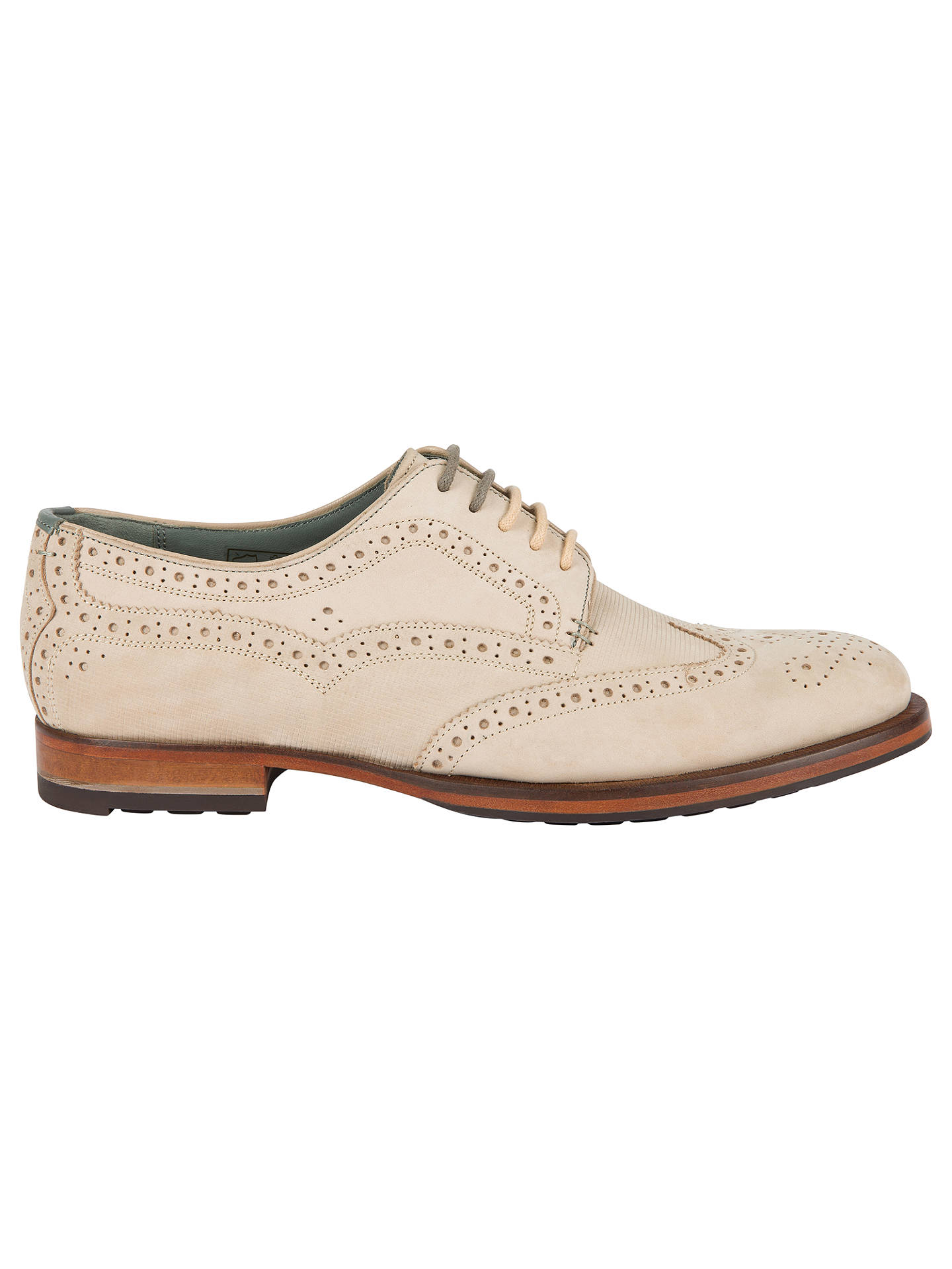 Buy Ted Baker Senapen Derby Brogues, Brown, 6 Online at johnlewis.com