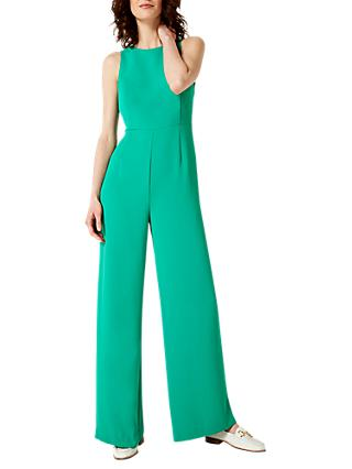 Damsel in a Dress Hallie Cross Back Jumpsuit, Emerald Green