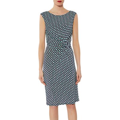 Gina Bacconi Billie Abstract Print Dress, Navy/Green