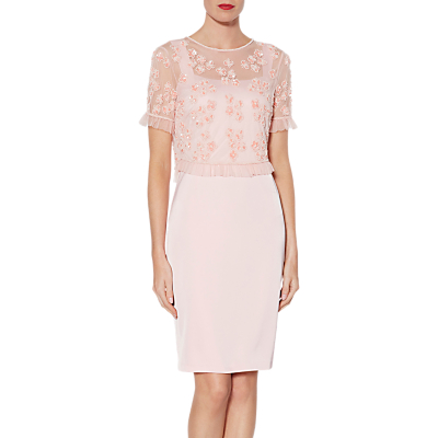 Gina Bacconi Cherie Dress, Rose Petal