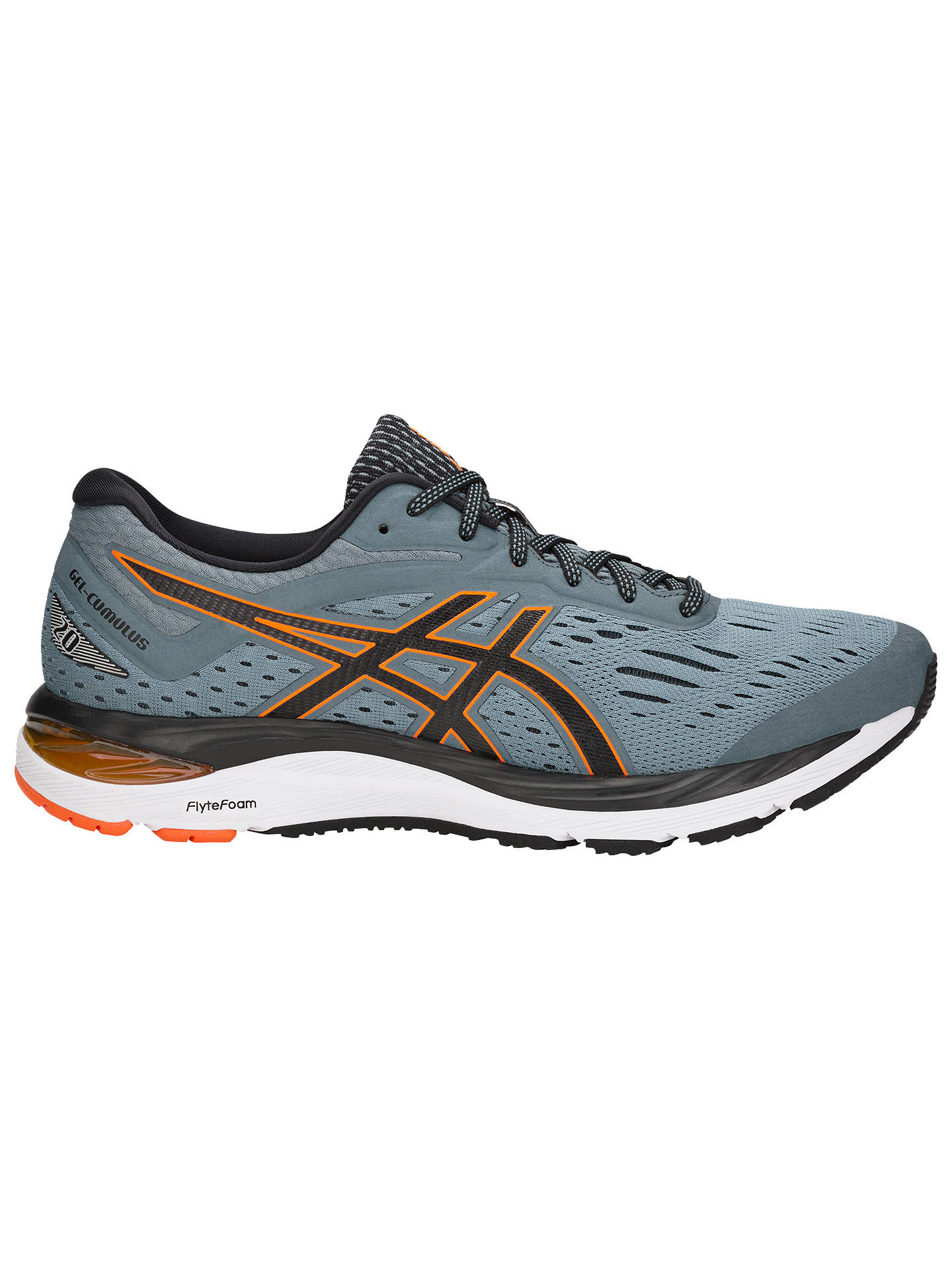 Buy ASICS GEL-CUMULUS 20 Men's Running Shoes, Stone Grey/Black, 8 Online at johnlewis.com