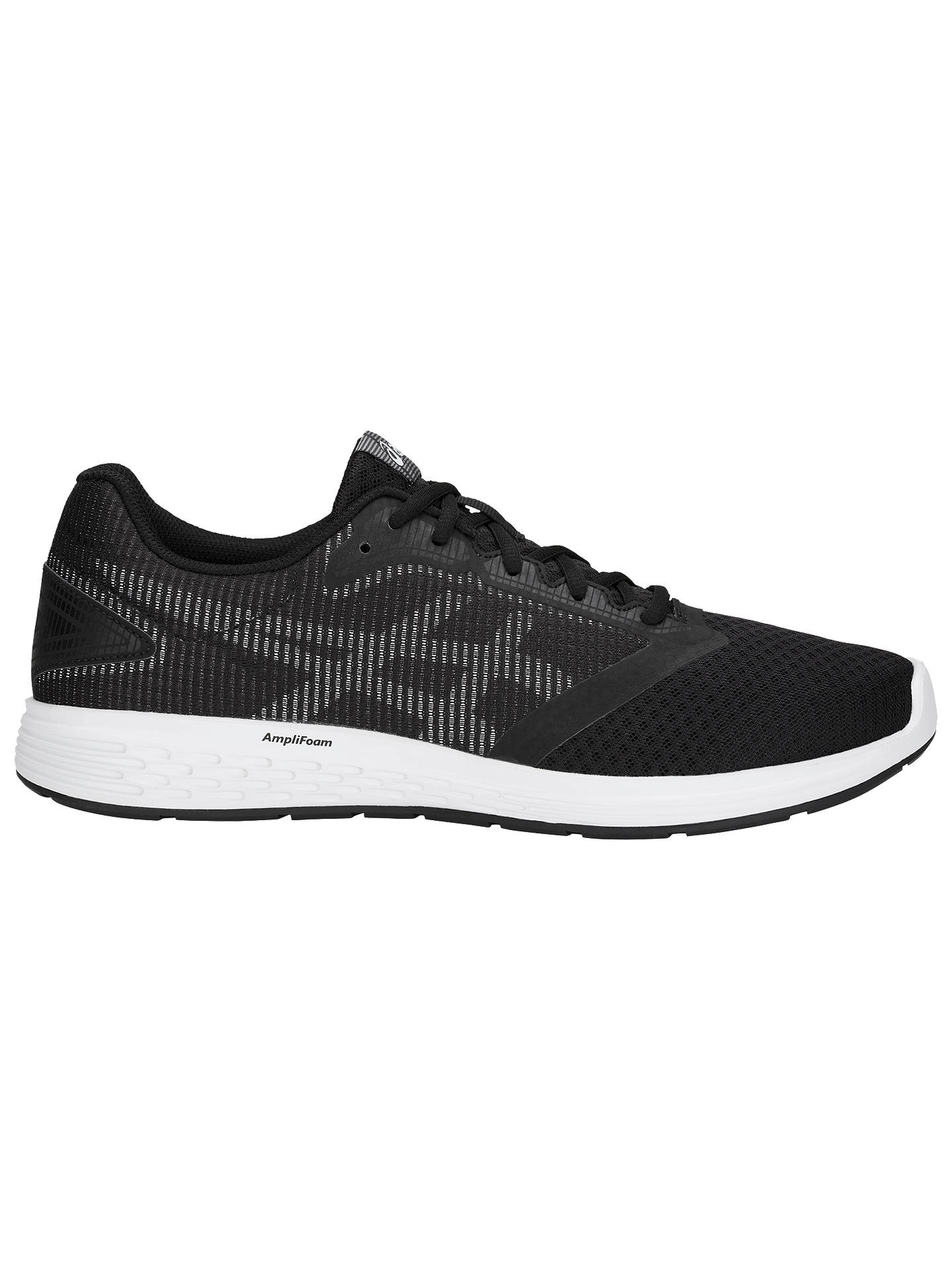 premium selection 61817 884f8 Buy ASICS PATRIOT 10 Men s Running Shoes, Black White, 7 Online at  johnlewis ...