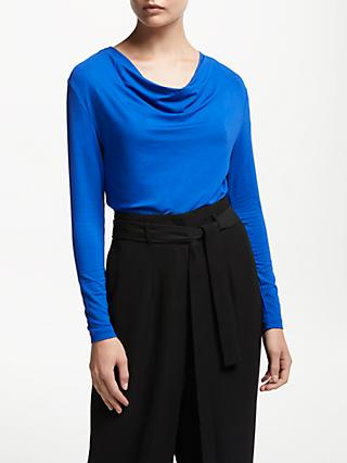 John Lewis & Partners Long Sleeve Cowl Neck Top