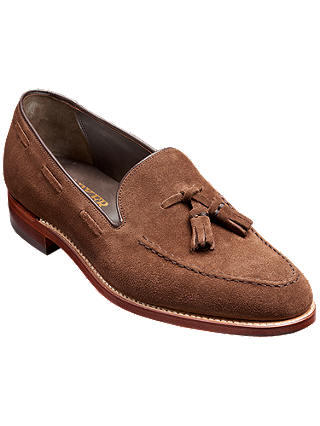 Buy Barker Litchfield Tassel Loafers, Castagnia Suede, 8 Online at johnlewis.com
