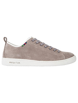 Buy PS Paul Smith Miyata Suede Trainers, Grey, 7 Online at johnlewis.com