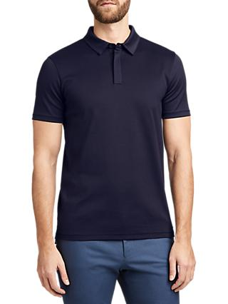 5da58c78 HUGO by Hugo Boss Dogwood Contrast Texture Polo Shirt, Navy