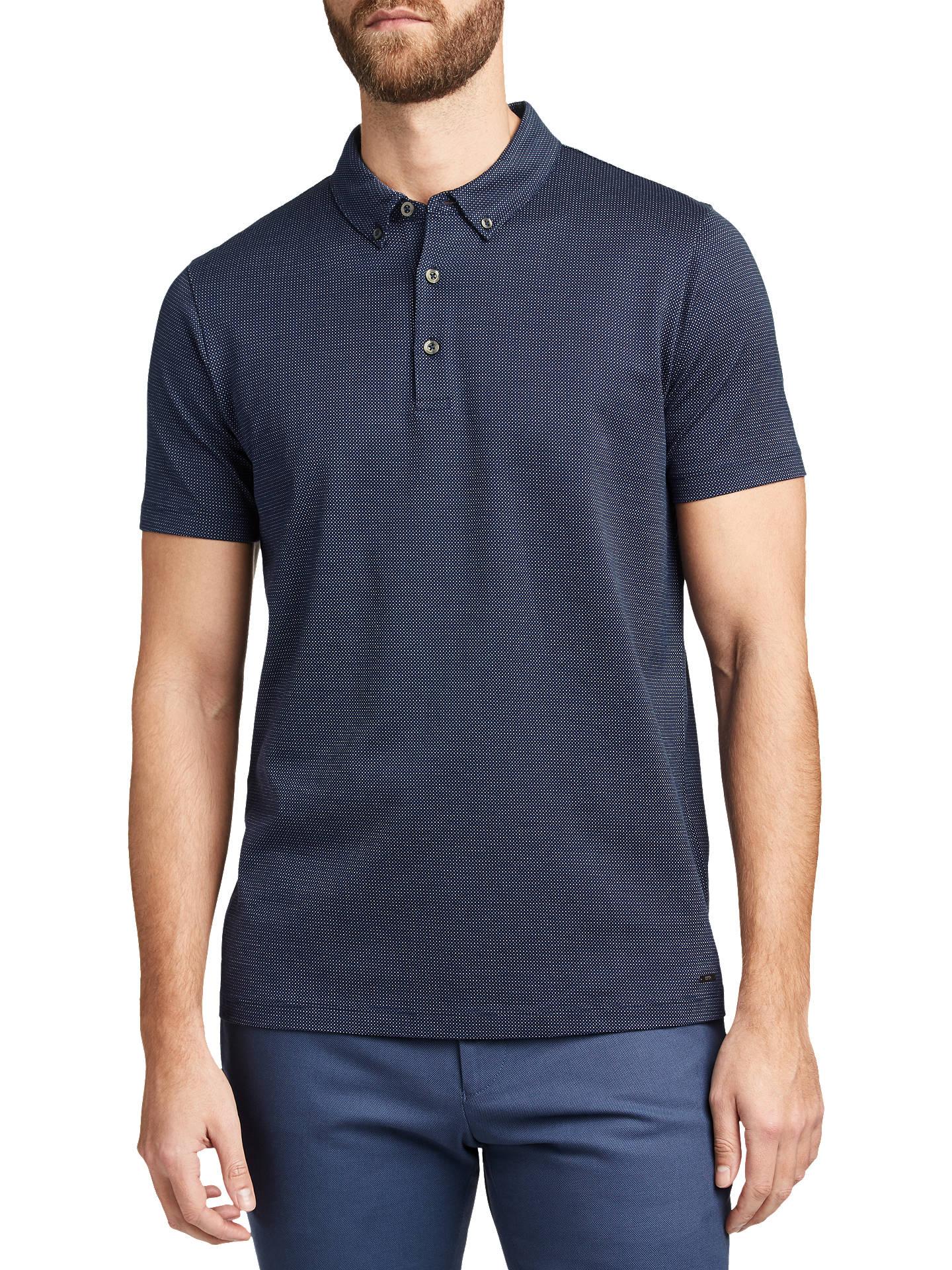 0cdddce0 Buy HUGO by Hugo Boss Daprio Mercerised Micro Jacquard Polo Shirt, Navy, S  Online ...
