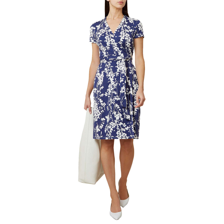 Ivory Dress Hobbs Wrap Delilah Blue Qsg0iw
