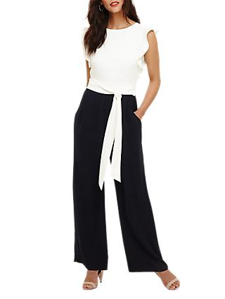Phase Eight Victoriana Jumpsuit, Navy/Ivory