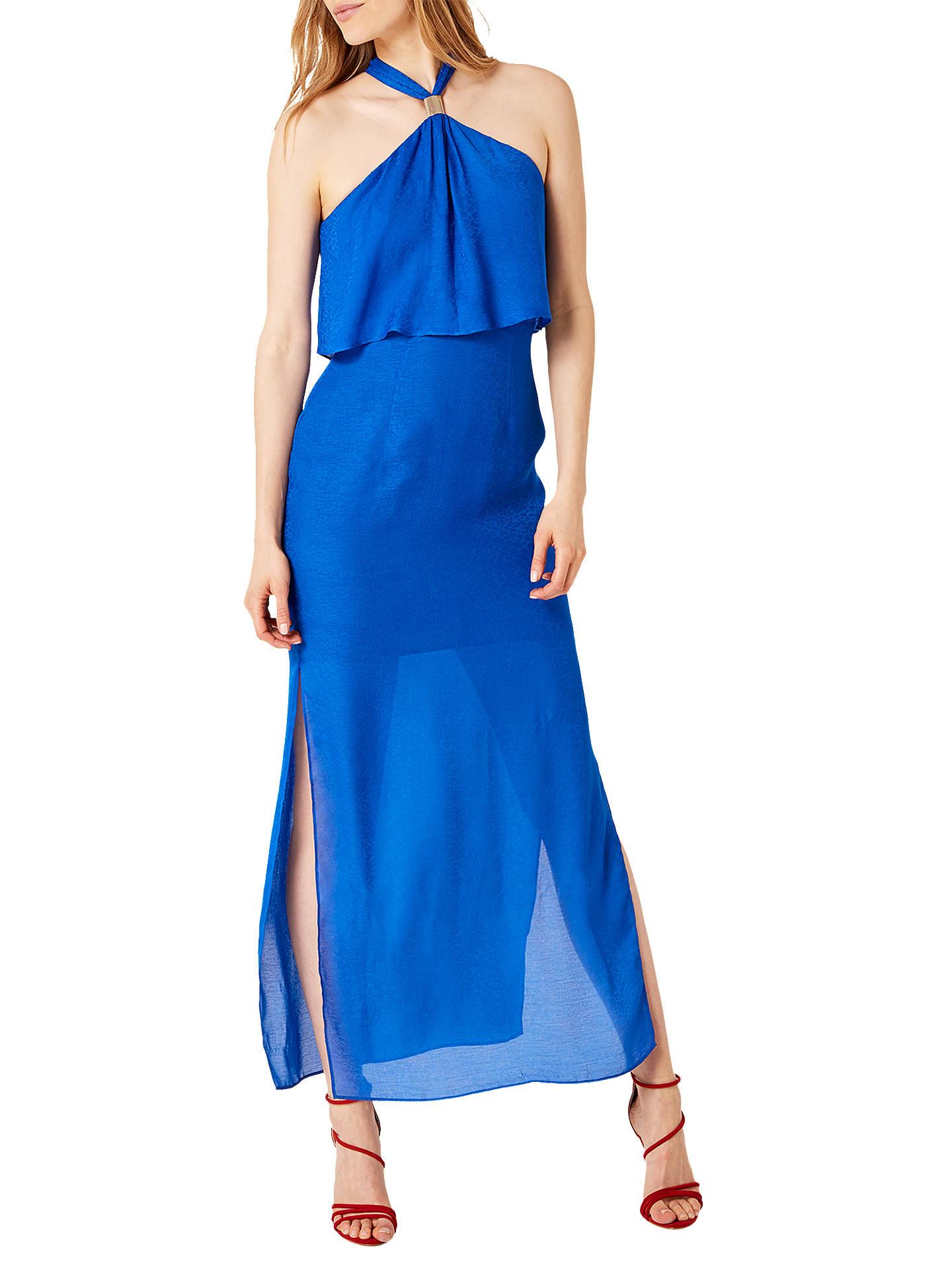 c333e205ad8da Damsel in a dress Leopard Jacquard Maxi Dress, Blue