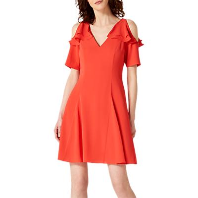 Damsel in a Dress Juna Ruffle Cold Shoulder Dress, Red