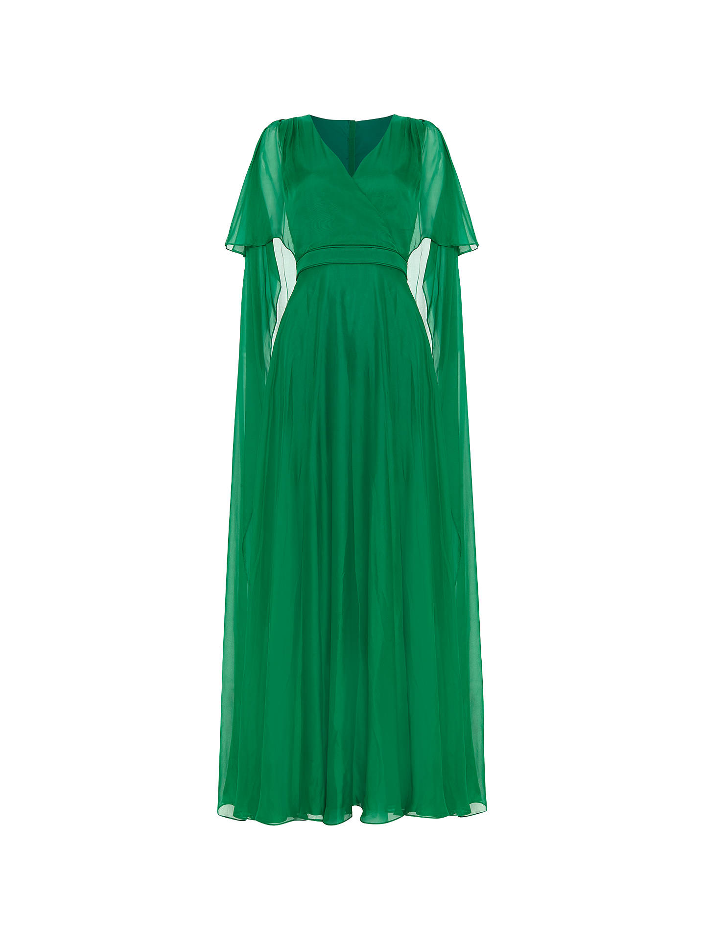 BuyPhase Eight Arwen Silk Drape Gown, Green, 8 Online at johnlewis.com
